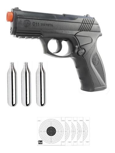 pistola airgun rossi co2 c11 6mm não tem ponta laranja