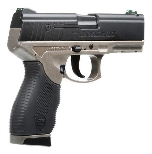 pistola airsoft 6mm asg sport 106 dt resorte + 1000 bbs