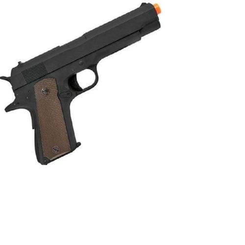 pistola airsoft aep colt m1911 slide metal 6.0mm cm123