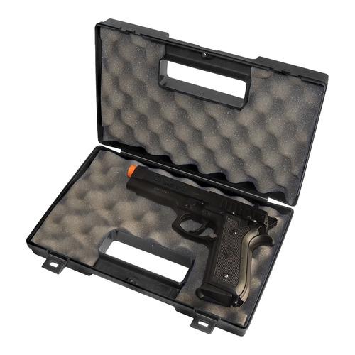 pistola airsoft cybergun taurus pt92 + maleta rossi +2000bbs