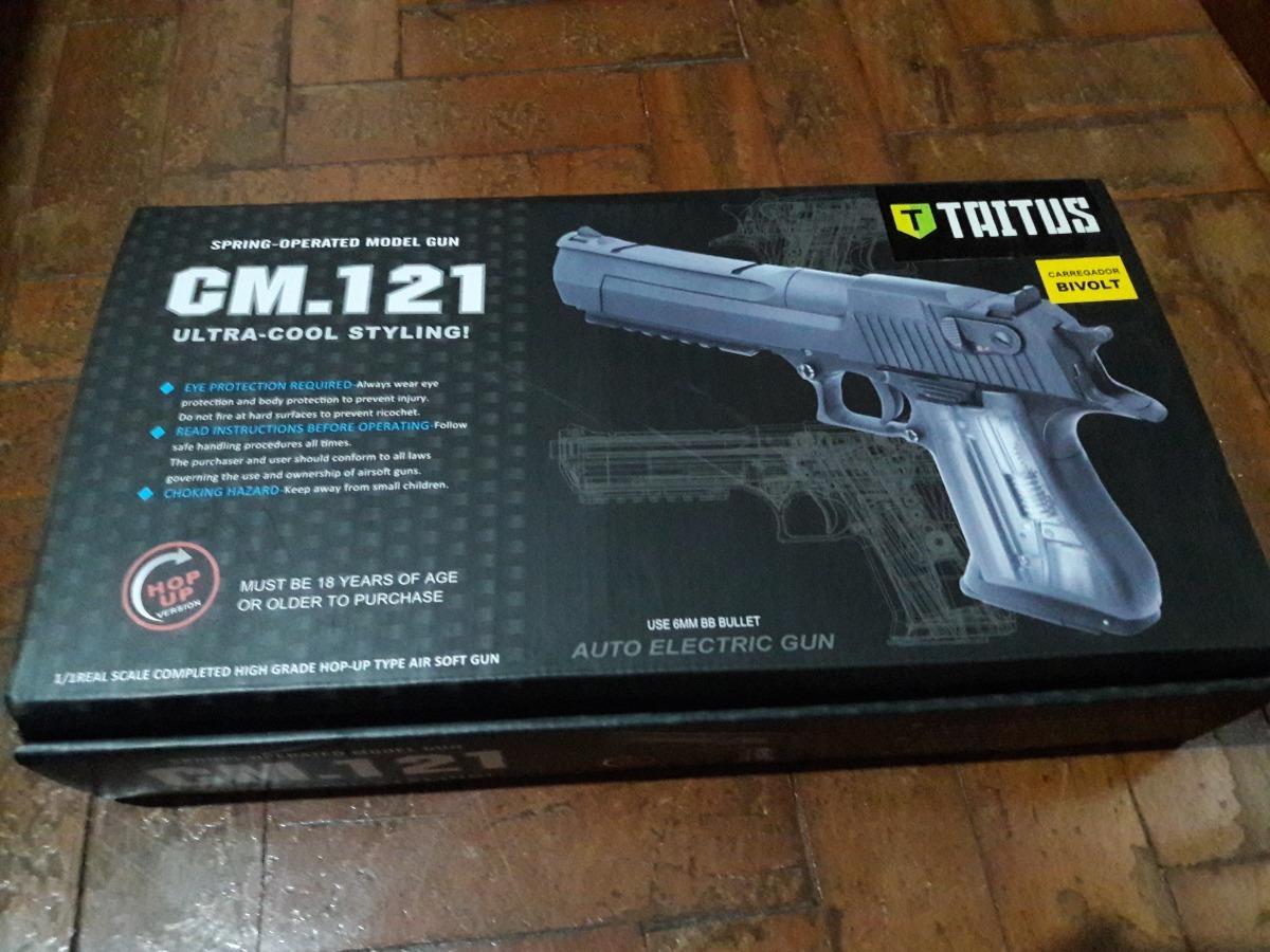 1b872c812ee80 Pistola Airsoft Desert Eagle + Mascara + Munição +acessório - R ...