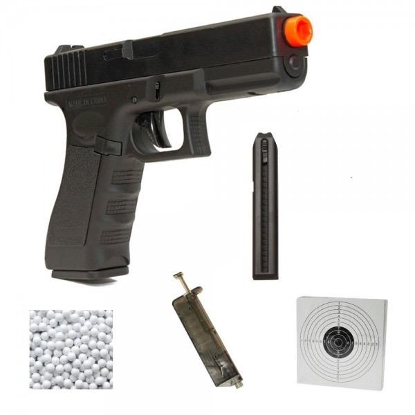 Pistola Airsoft Elétrica Aep Cyma Glock G18c Cm030 Nf