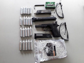 Pistola Airsoft Full Metal Co2 Pt99 Full Automática + Kit