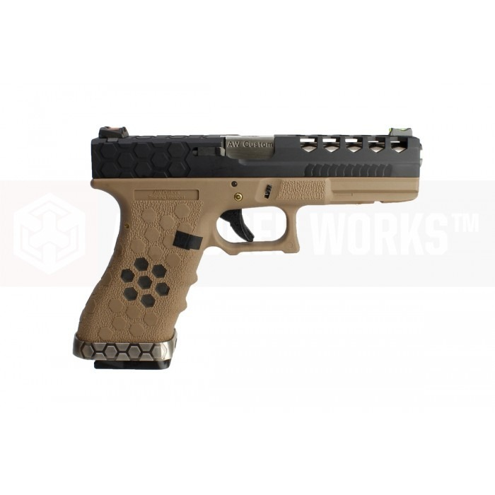Pistola Airsoft Glock G17 Aw Custom Green Gas Blowback Tanb ...