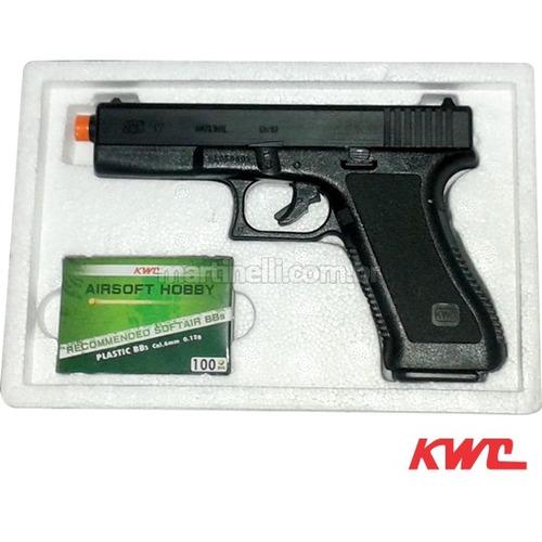 pistola airsoft kwc glock g7 spring abs