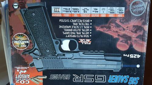 pistola airsoft sig sauer gsr 1911 6mm co2