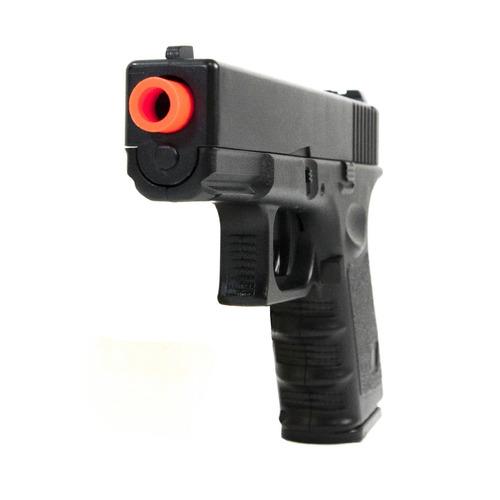 pistola airsoft spring galaxy glock full metal +case+ 2000bb
