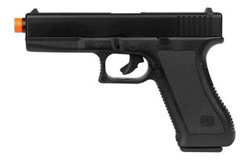 pistola airsoft spring kwc glock g7 + case +  bb king 0.12g