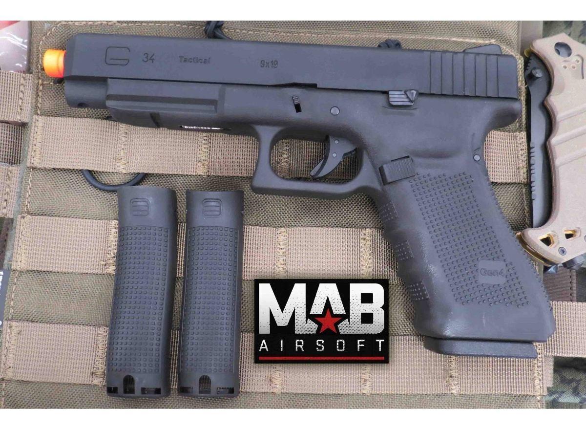 Pistola Airsoft We Glock G34 Gen 4 Gbb Metal Polim Pt - 6mm