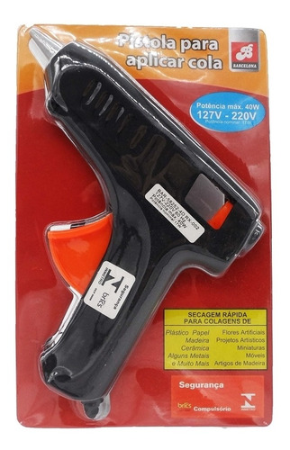 pistola aplicador de cola quente profissional bivolt 40w