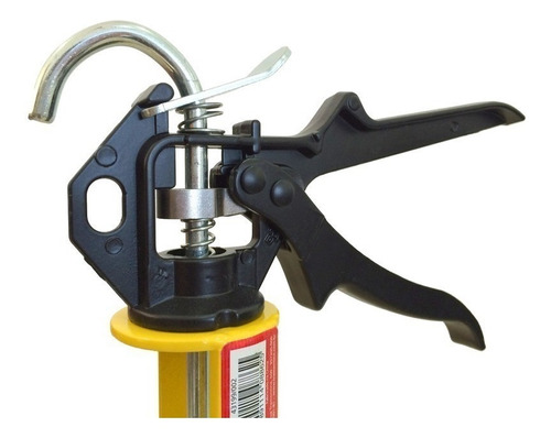 pistola aplicador para silicone tramontina amarelo/preto