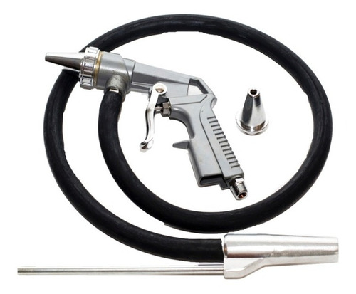 pistola arenadora neumatica 2 picos metalico + acc compresor