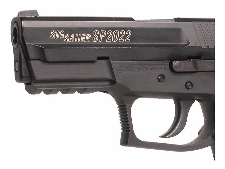 + Balines Potencia 1,75 Julios Pack pistola Perdig/ón Sig Sauer SP2022 Bombonas co2 Pa/ñuelo cabeza decorado corredera metalica Calibre 4,5mm BBS Gafas antivaho
