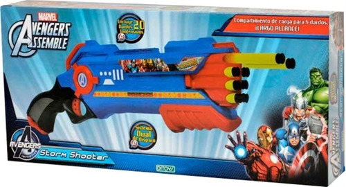 pistola avengers 20 dardos dualshoot ditoys new 1770 bigshop