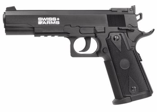 pistola balin bbs 4,5 swiss arms p1911 match/ hiking outdoor