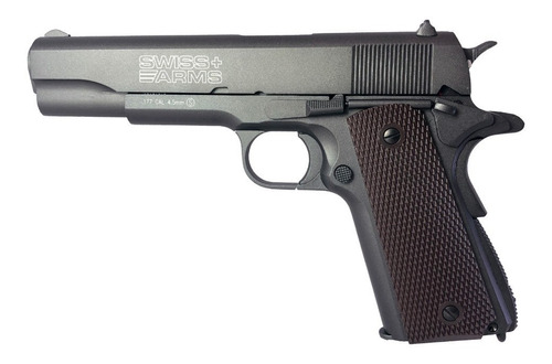 pistola balines co2 4.5 swiss arms blowback 1911 full metal