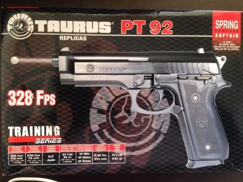 pistola beretta pt92 taurus airsoft 6mm  resorte full abs