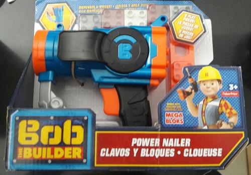 pistola bob el constructor clavos y bloques megabloks