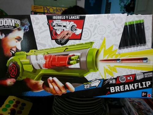 pistola boom breakflip, 23 metros de alcanze.