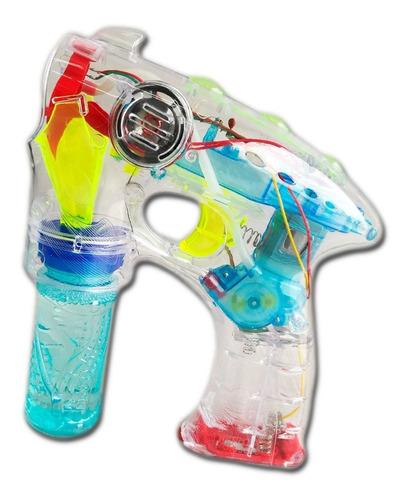 pistola burbuja luces led y sonido juguete verano fiestaclub