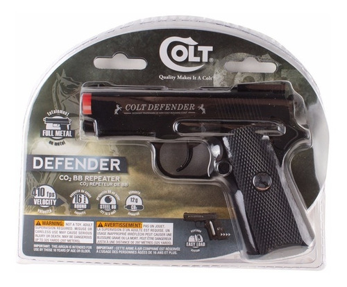 pistola co2 airsoft  defender colt 410 fps full metal