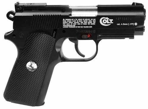 pistola co2 colt full metalica retroceso automatica sparta