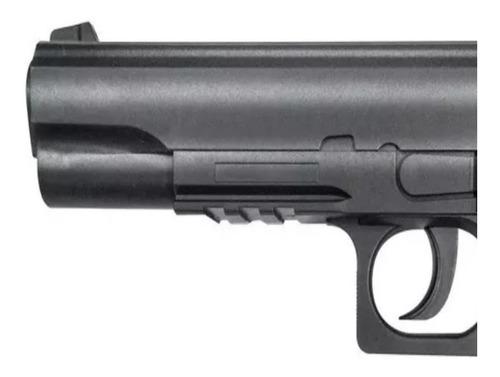 pistola co2 stinger 1911 potente + 1500 balines + 3 garrafas