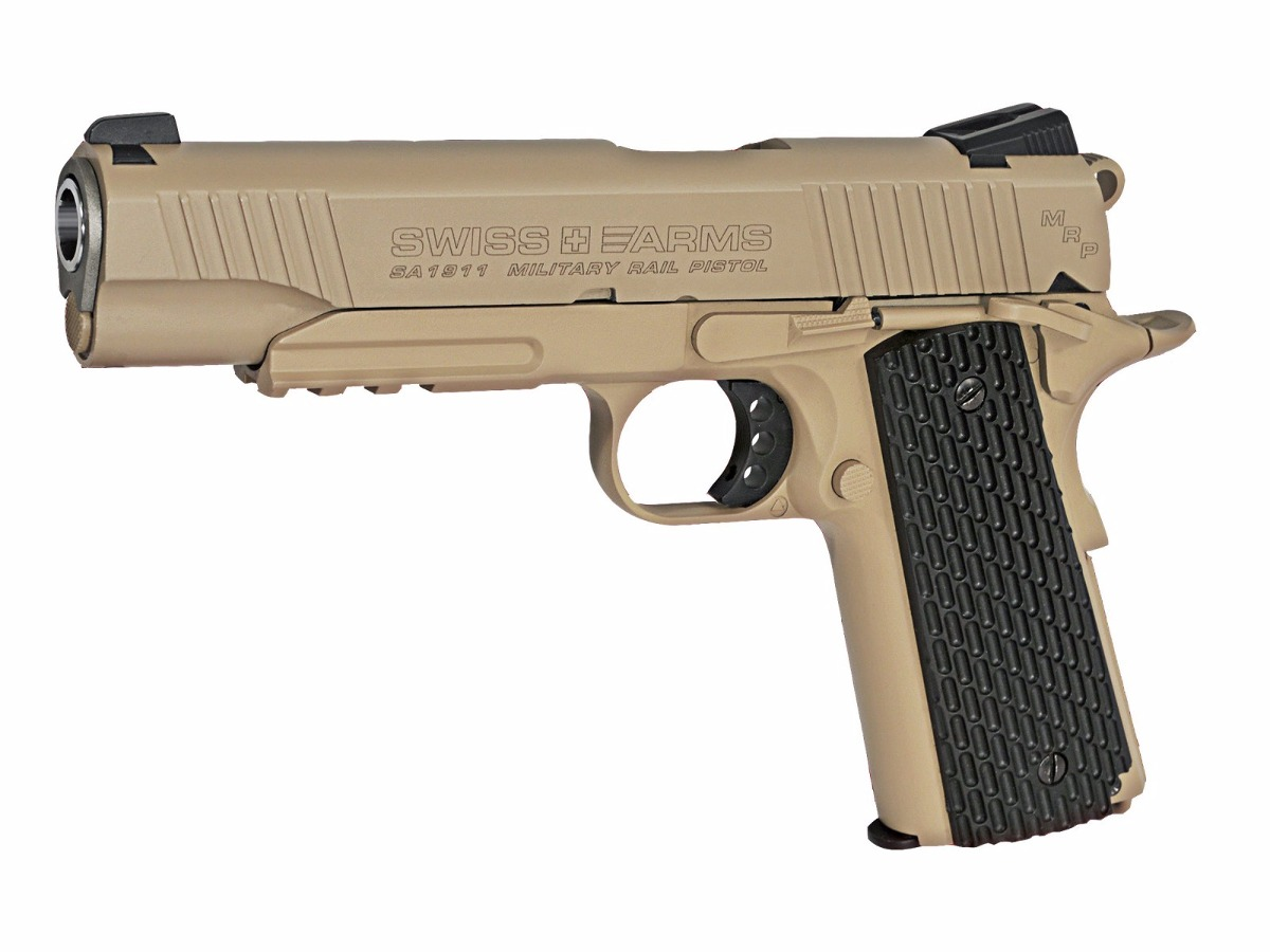 Pistola, Co2, Swiss Arms 1911 Mrp Desierto, + Pipetas, Balin ...