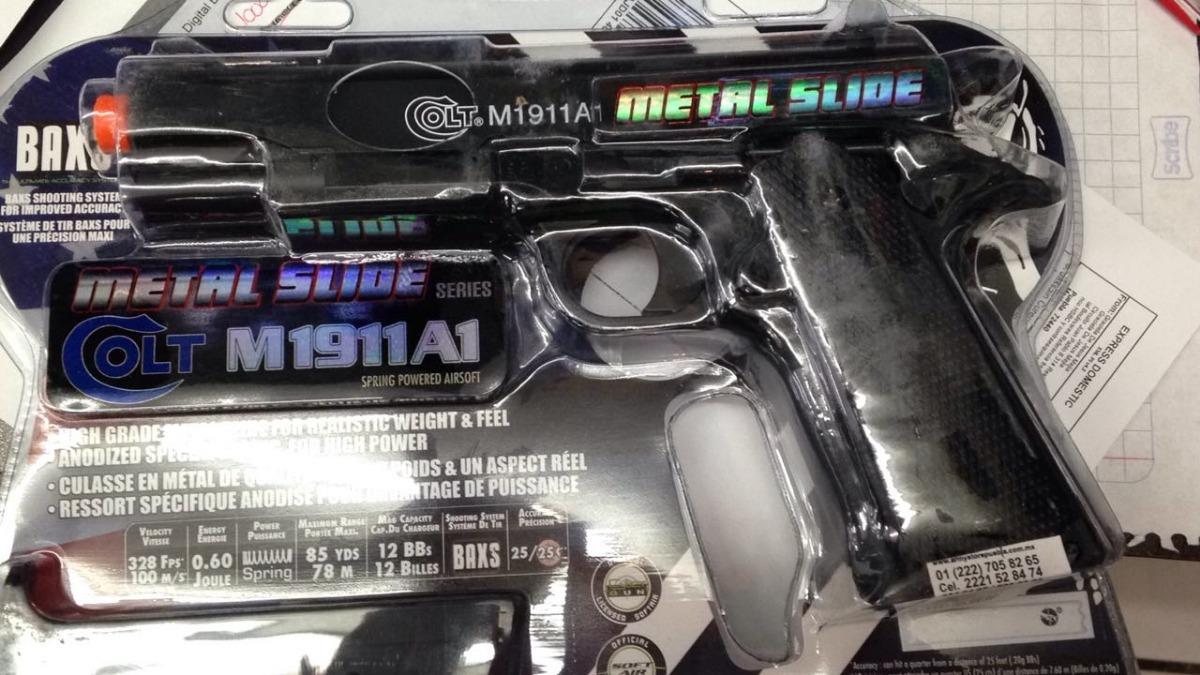 1ac912193 Pistola Colt 1911 Airsoft Metal Slide 6mm Taurus - $ 630.00 en ...