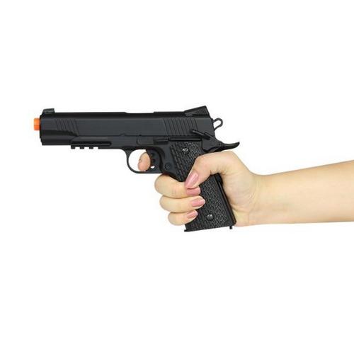 pistola colt 1911 full metal airsoft spring m291 230 fps