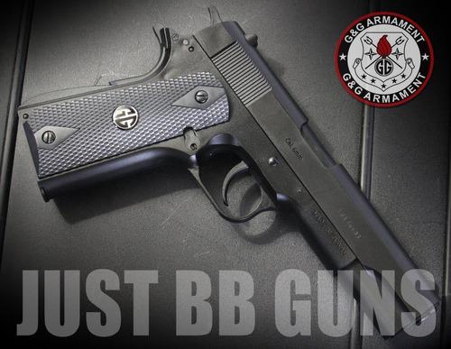 pistola colt government para airsoft + 1000 bbs + lentes