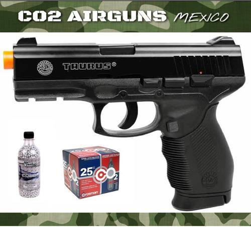 pistola cybergun taurus pt 24/7 co2 12gr airsoft 6mm