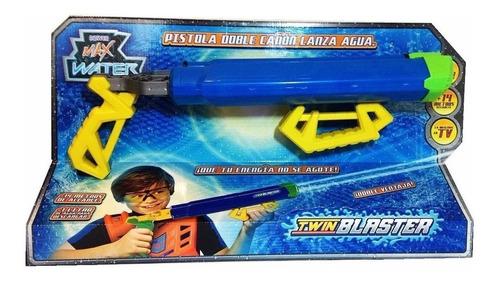 pistola de agua doble caño twin blaster + 14 mt max water