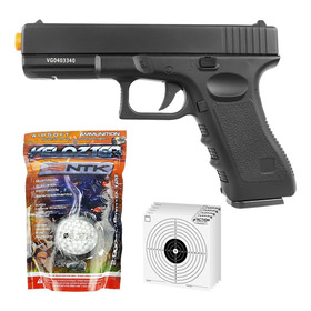 Pistola De Airsoft Full Metal Glock Gk-v20 Spring + 2000 Bbs