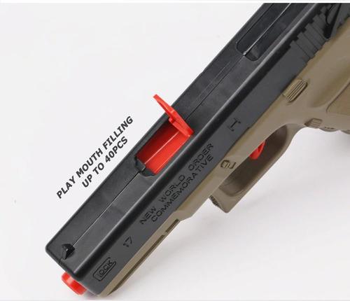 pistola de airsoft glock 17 + 820 balines - envio gratis