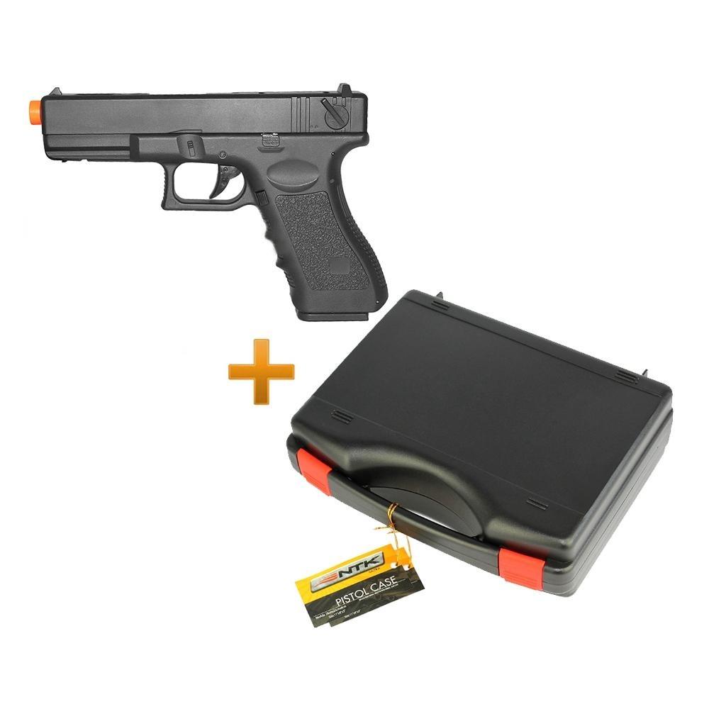Pistola De Airsoft Glock G18c Aeg + Case Nautika