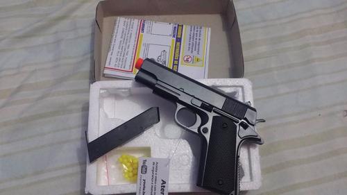 pistola de airsoft  zm04 6mm rossi metal + brinde