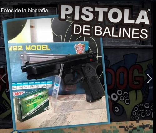 pistola de balines bbs glock pietro beretta mejor y barato
