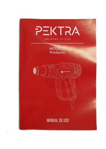 pistola de calor aire caliente pektra 2000w kit 5 accesorios