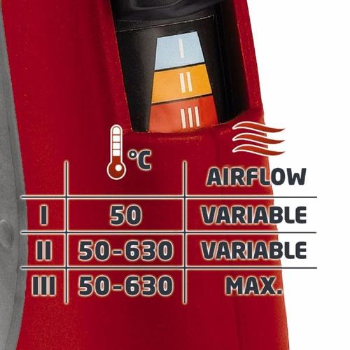 pistola de calor einhell rt-ha 2000 e. 2000 watts - 50/630°c