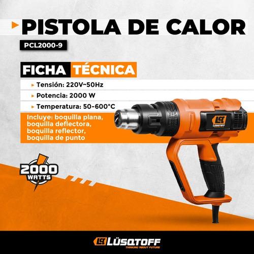 pistola de calor lusqtoff pcl2000-9 2000w 3 vel. cuotas