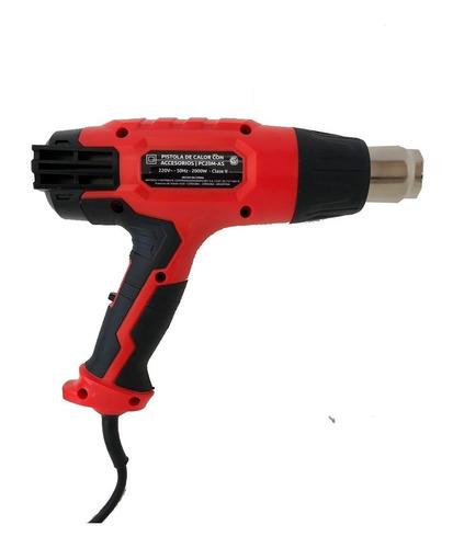 pistola de calor miyawa 2000w 3 potencias c/ accesorios
