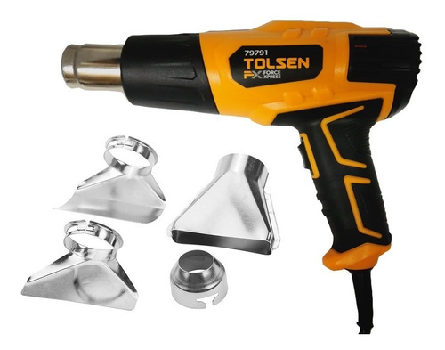 pistola de calor tolsen 79791 + 4 boquilla nueva calidad!!