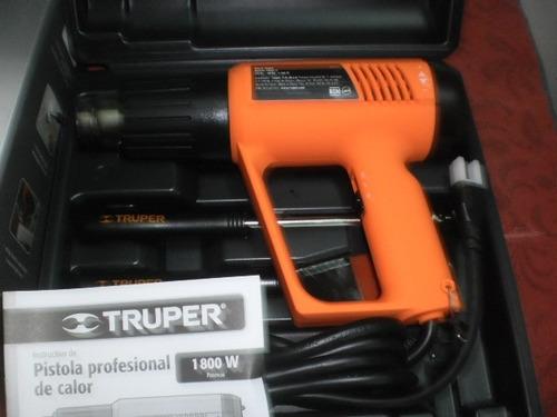 pistola de calor,truper, profesional, 1800 watts