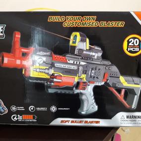 Pistola De Dardos Automática Com Mira E Coronha Estilo Nerf