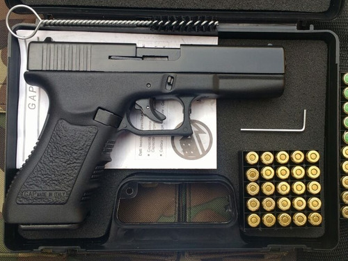 pistola de fogueo bruni glock 17 tienda garantia + 10 balas