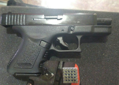 pistola de fogueo bruni  mini glok  tactica envioa toda cbia