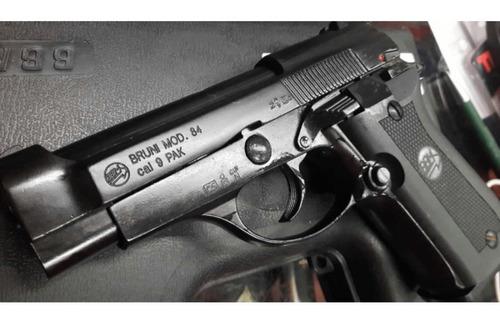 pistola de fogueo bruni mod 84 no letal uso civil defensa