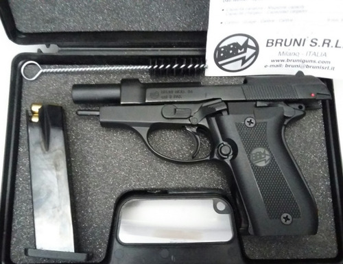 pistola de fogueo bruni mod 84 no letal uso civil defensa