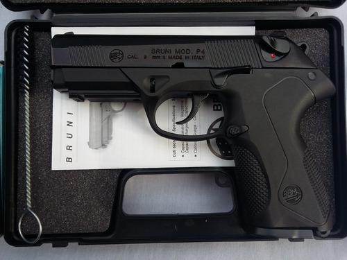 pistola de fogueo bruni mod p4 9m no letal defensa uso civil